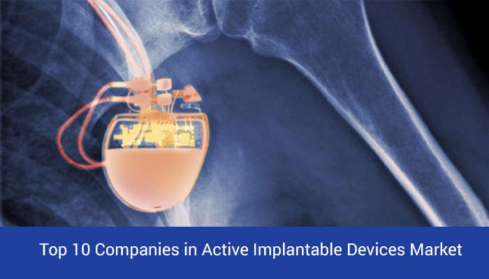 Top 10 Companies active implantable devices market